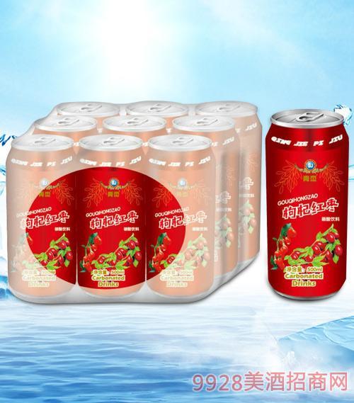 青杰枸杞红枣果味碳酸饮料500mlx9