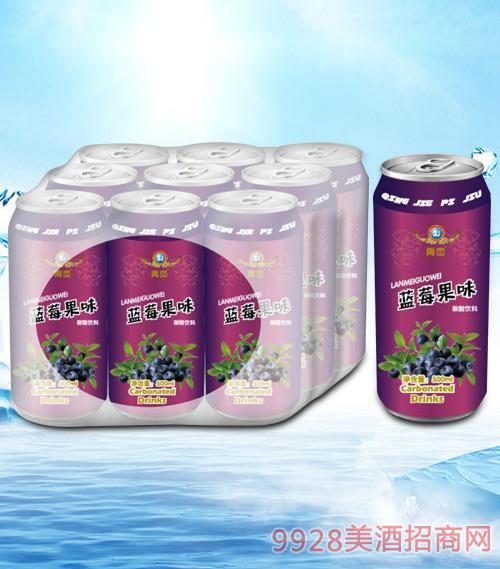 青杰蓝莓果味碳酸饮料500mlx9