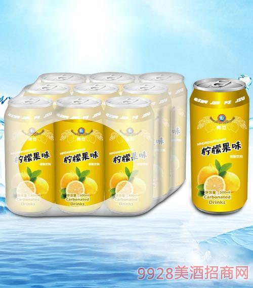 青杰柠檬果味碳酸饮料(黄)500mlx9