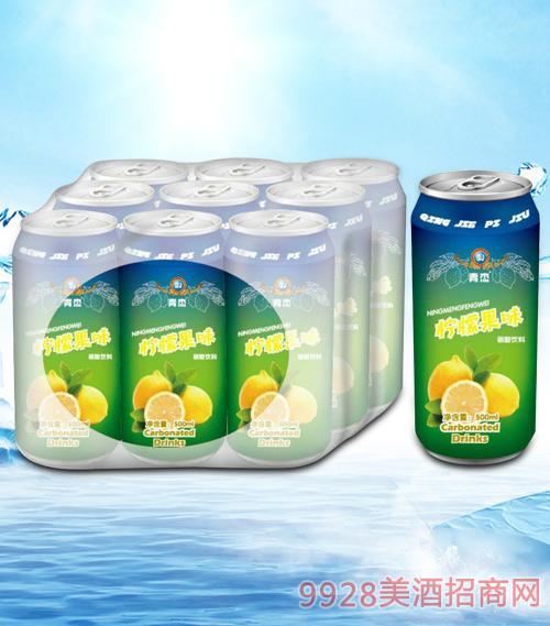 青杰柠檬果味碳酸饮料500mlx9