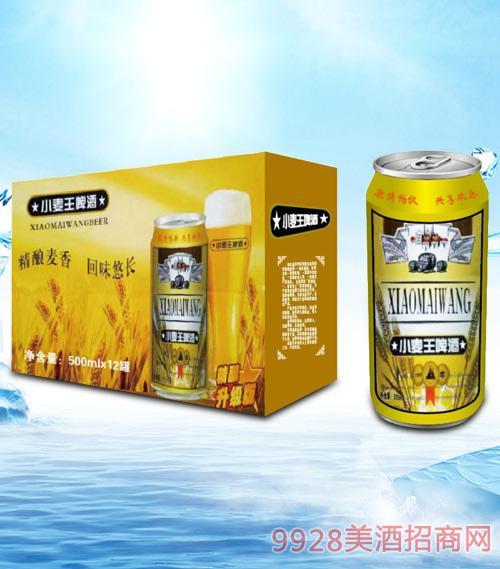 青杰小麦王啤酒箱装500mlx12-易拉罐