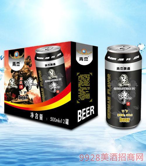 青杰黑啤酒箱装500mlx12-易拉罐
