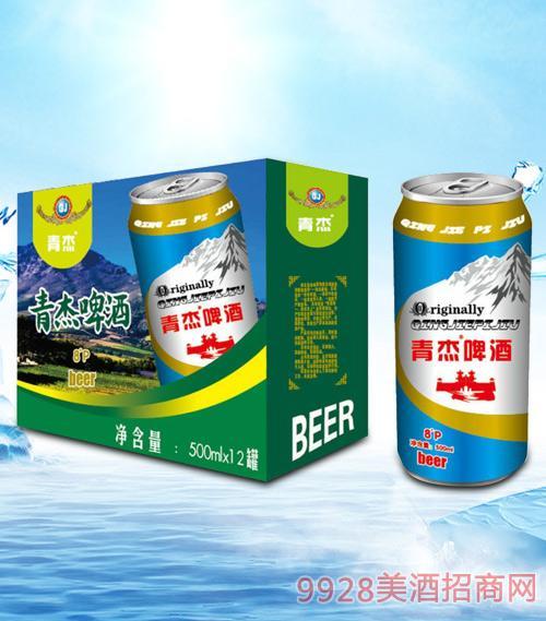 青杰啤酒箱装500mlx12-易拉罐