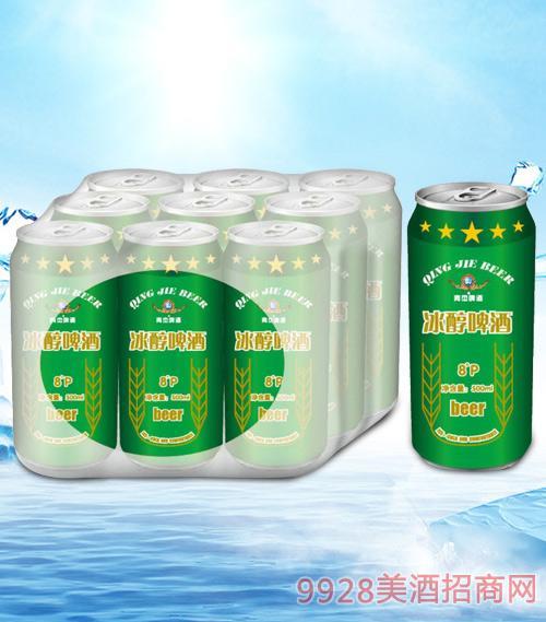 青杰冰醇啤酒罐装500mlx9-易拉罐