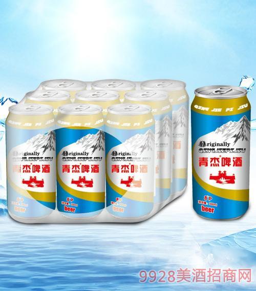 青杰啤酒罐装8度500mlx9-易拉罐