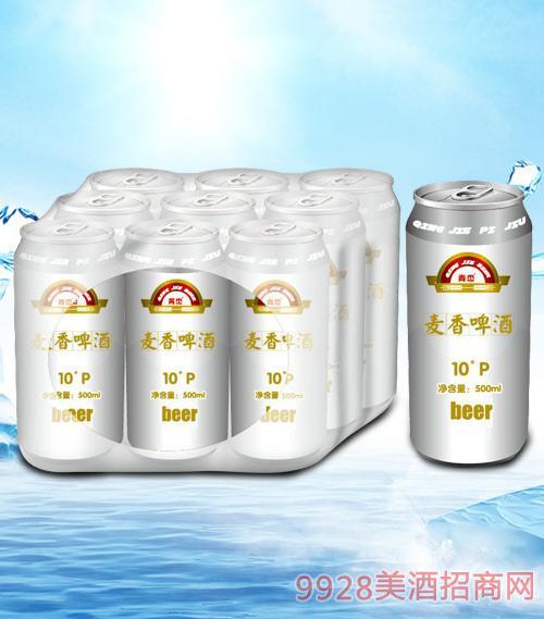 青杰麦香啤酒罐装500mlx9-易拉罐