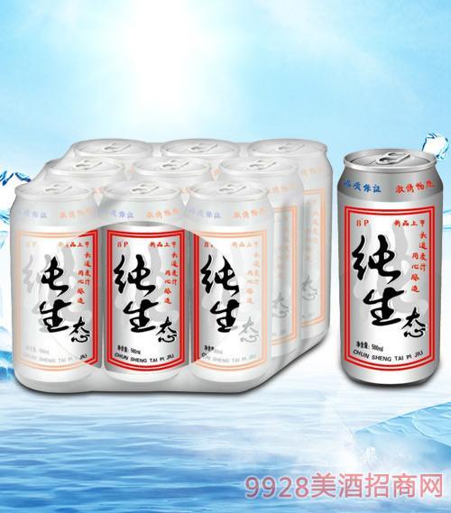 青杰纯生态啤酒罐装500mlx9-易拉罐
