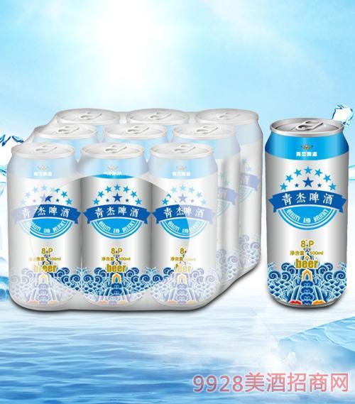 青杰啤酒罐装500mlx9-易拉罐