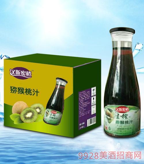 青杰汉斯蜜橙猕猴桃汁1.5Lx6