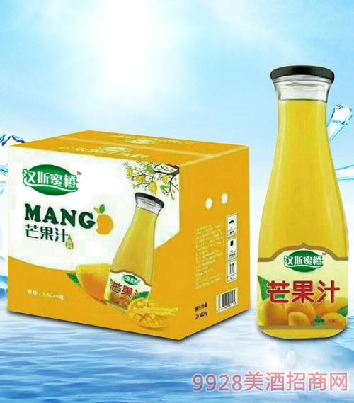 青杰汉斯蜜橙芒果汁1.5Lx6