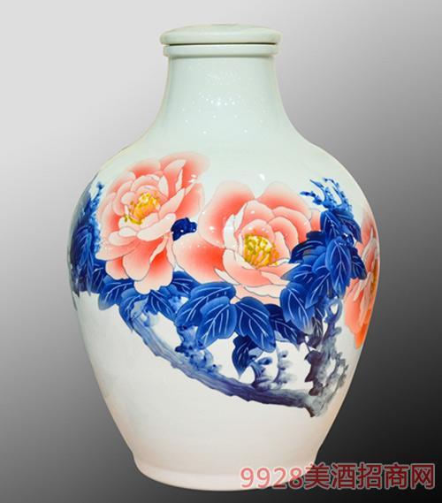 五十斤冬瓜牡丹红花瓶浓香型53度