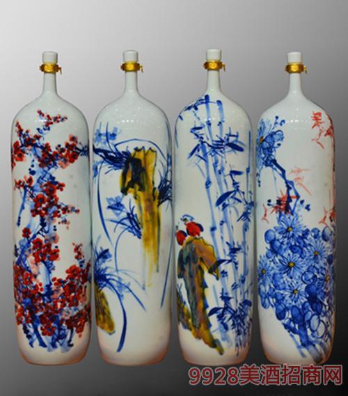 二十斤梅兰竹菊瓶浓香型53度