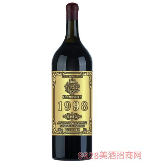 1998法��法蒙�珍藏干�t葡萄酒