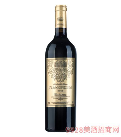2013法��法蒙�窖藏干�t葡萄酒750ml