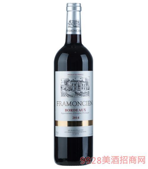 2014法��法蒙�精品干�t葡萄酒