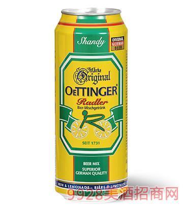 德���W丁格��檬啤酒500ml
