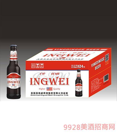 美国英格威啤酒218mlx24