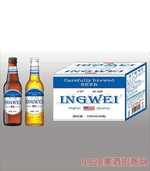 美国英格威啤酒330mlx24