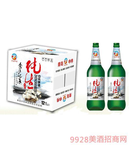 中冉纯生啤酒500mlx12