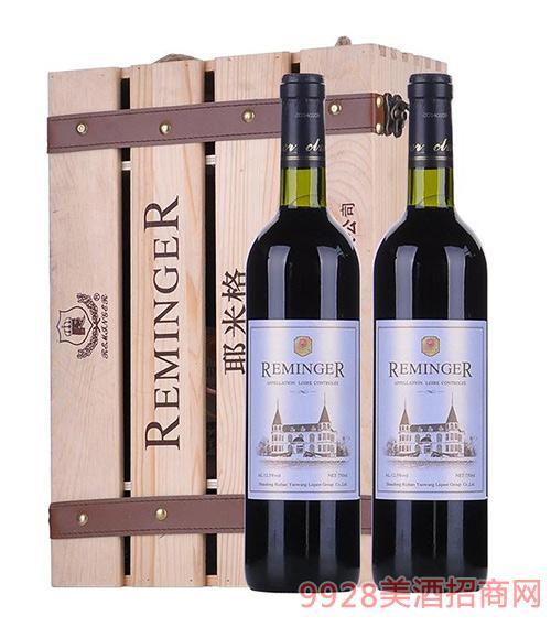 耶米格双支木盒干红葡萄酒12.5度750ml