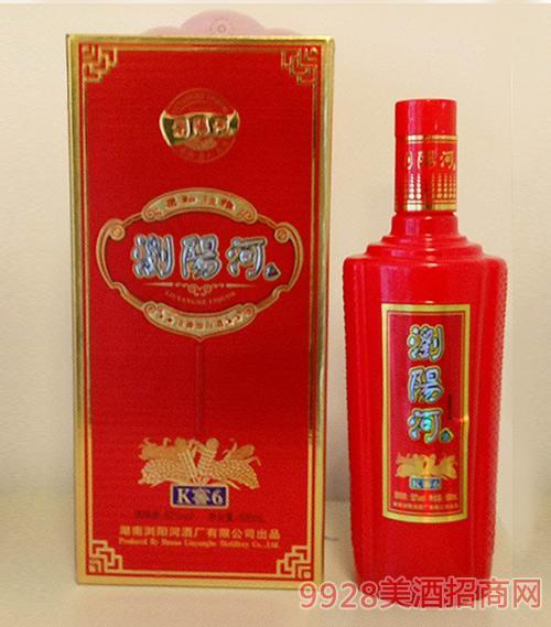 浏阳河酒K窖6柔和淡雅浓香型52度500ml