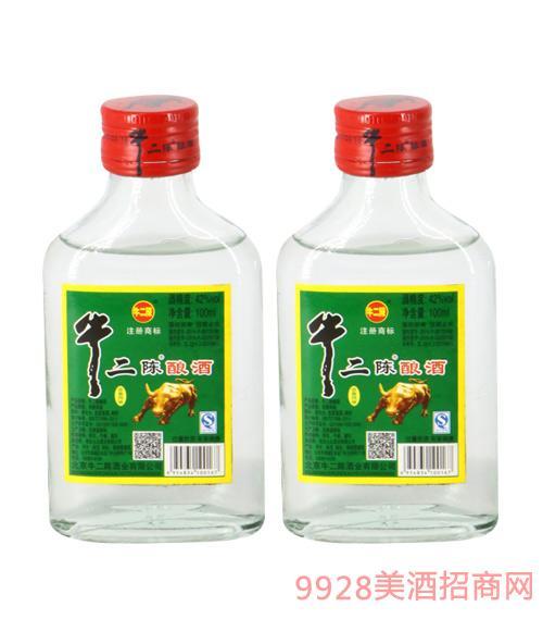 牛二陈酿酒42度100ml