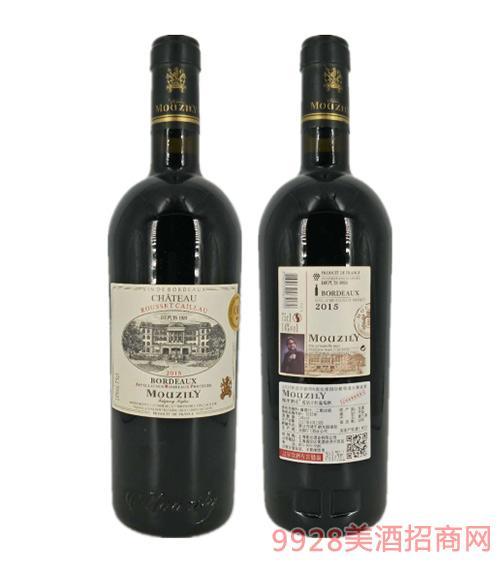 法国穆泽酒庄蓝钻干红葡萄酒14度750ml