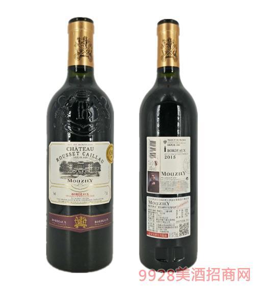 法国穆泽酒庄磨坊城堡干红葡萄酒14度750ml