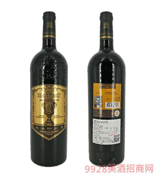 法国穆泽酒庄小金杯干红葡萄酒13度750ml