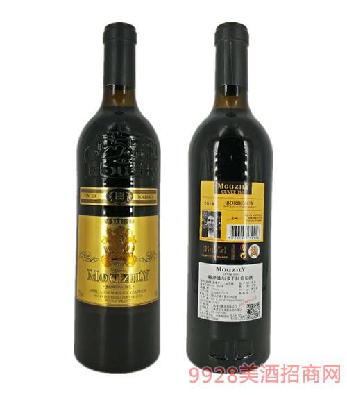法国穆泽波尔多干红葡萄酒13度750ml