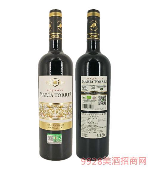 西班牙玛利亚托雷斯有机干红葡萄酒14度750ml