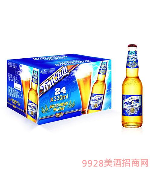 纯清啤酒瓶装330mlx24