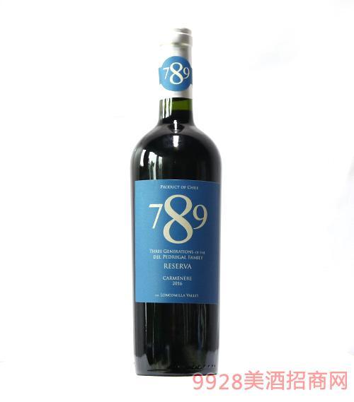 智利德佩雷家族789珍藏佳美娜干红葡萄酒
