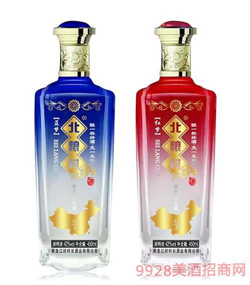 北粮村红梦蓝梦酒42度450ml