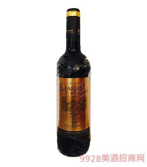 法国波尔多玛柏拉格城堡珍藏干红葡萄酒