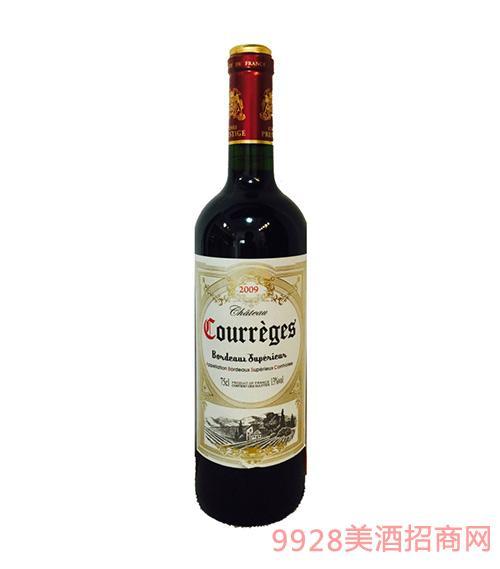 法国波尔多库瑞格干红葡萄酒