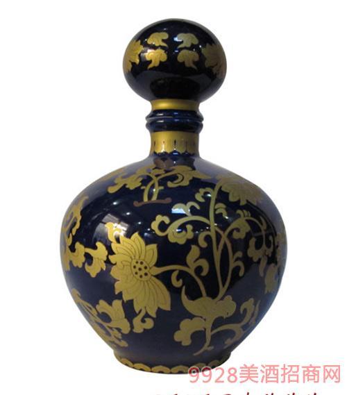 财神酒3斤5斤景泰蓝菊花瓷坛