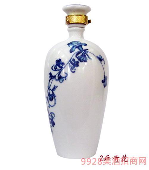 财神酒2斤青花瓷坛
