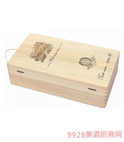 知湘颂双支木盒(原木色)