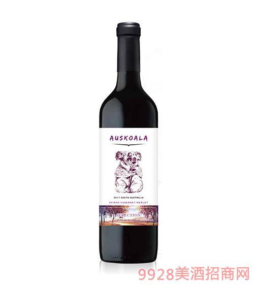 澳斯卡拉精选西拉赤霞珠美乐干红葡萄酒