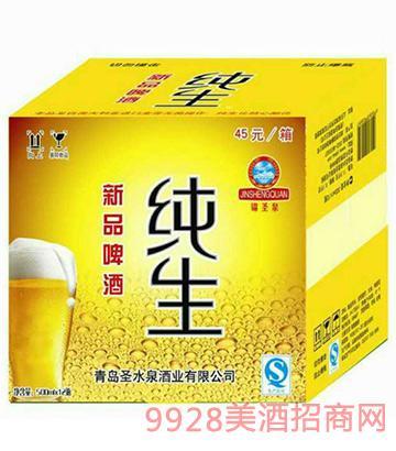 青圣纯生新品啤酒