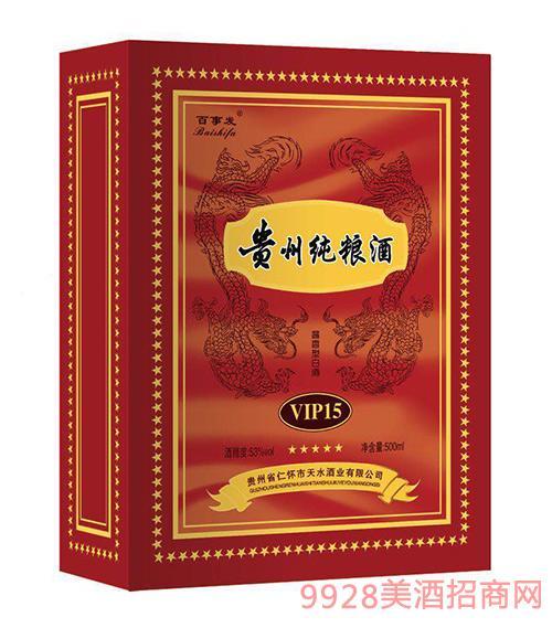 贵州纯粮酒VIP15-53度500ml
