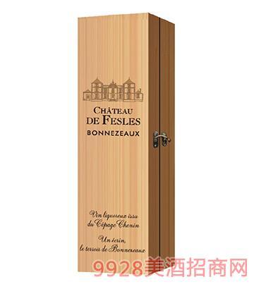 菲乐酒庄葡萄酒一支装木盒