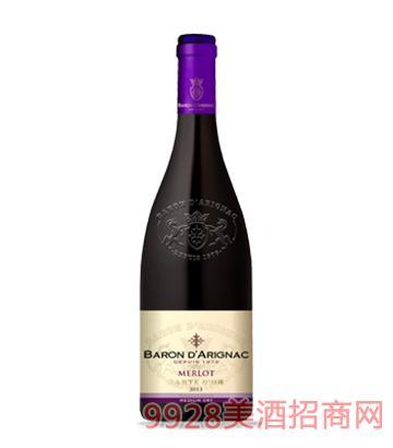 阿里那男爵美乐红葡萄酒