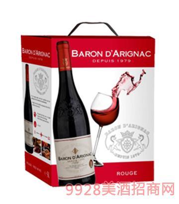 阿里那男爵欧盟红葡萄酒盒中袋