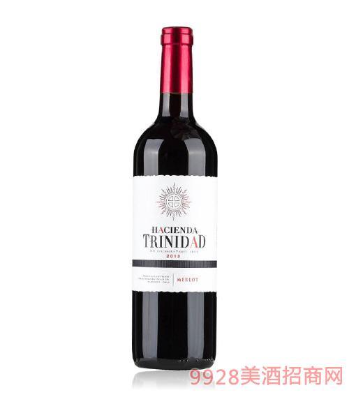 智利美乐入门级干红葡萄酒特立尼达庄园