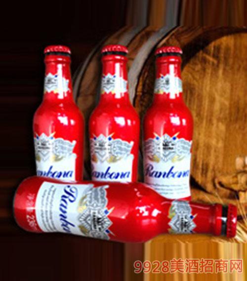 博伦百威啤酒红瓶装