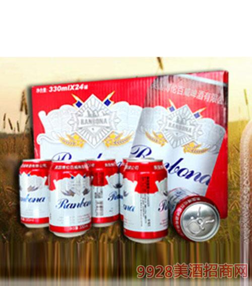 英国博伦百威啤酒易拉罐装