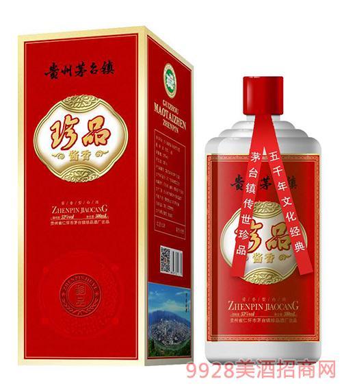珍品酱香酒红盒53度500ml