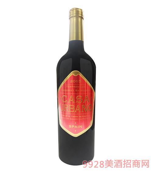 凯撒庄园丹魄赤霞珠干红葡萄酒2015